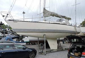 An X372, by X-Yachts in River Hamble for an insurance survey