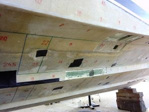 Hull gelcoat peel project supervision